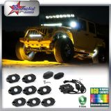 Hot Selling 6 Pods RGB Color CREE Chip 9W IP68 Offroad LED Rock Light for Honda Toyota Jeep Wrangler Harley Davidson