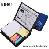 Colorful Sticky Paper Memo Holder in PU Box