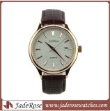 Hot Selling Fashion Genuine Leather Strap Stainless Steel Case with Date Man Watch