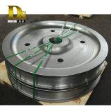 Densen Customized Alloy Steel Super Large Hot Forging Crane Wheels, Crane Rail Wheels, Train Wheels for Sale