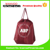 Stylish Customized Large Capacity Waterproof Polyester Drawstring Backpack with Handle