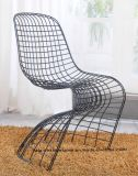 Dining Restaurant Stackable Black Panton Steel Double Wire Chair