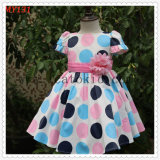 Na Countryside Polkdot Flower Girls Dress for All Season