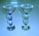 Glass Crystal Candle Holder