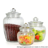 Hot Sell 3PCS 100% Seal Big Size Glass Food Storage Jar