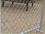 Hot-Dipped Galvanized Diamond Wire Mesh Temporary Chain Link Fence Panels