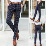Hot Sale British London Style Tapered Plaid Long Pants