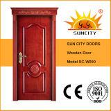 Commercial Paint Veneer Wood Solid Interior Doors for Sale (SC-W090)