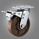 Heat Resisitant Brown Wheel Total Brake Caster