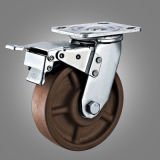 Heat Resisitant Brown Wheel Total Lock Brake Caster