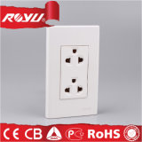 High Quality Electrical Power Double Wall Socket with Grounding