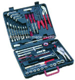 100PC Automative Hand Tool Set with 1/4′′ 3/8′′ Socket Set & Spanner Set