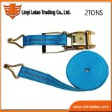 Blue PP Ratchet Strap Webbing Lashing Strap