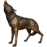 Outdoor Life Size Bronze Wolf Sculpture for Sale
