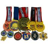 Custom Cheap Metal Judo Weightlifting Fun Run Badminton Car Kid Military Olympic Triathlon Anniversary Souvenir Champions League Marathon Running Sport Medal