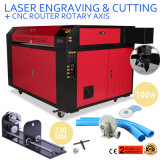 100W CO2 Laser Engraving Machine with Rotary Axis