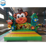 Happy 4X4m Monkey Jungle Indoor Bouncer Castle/Inflatable Kids Bouncer