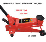3ton Low-Profile Double Pump Quick Lift Hydraulic Floor Jack