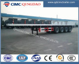 Manufacturer Cimc 2 Axles ~ 4 Axles 40FT Flatbed Container Truck Semi Trailer