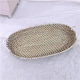 Handmade Eco Friendly Seagrass Change Basket with Mat for Newborn
