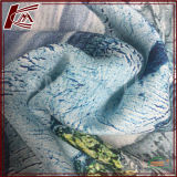 Soft Sand Washed Pure Silk Printed Charmeuse Satin Silk Fabric