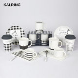 Ceramic Tableware New Bone China Mug Set White and Black Mug for Wholesale