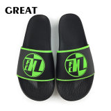 Greatshoe 2019 Black Beach Slide Sandal PVC Sport Adult Slide Slipper Footwear Man OEM Custom Logo Slide Sandal