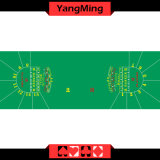 100% Polyester Fabric Luxury Casino Table Layout Two Round Half -15p with Green Color Casino Poker Table Games Green Color (YM-BL34G3)