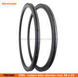 7-Tiger Carbon 38mm Wheel Road Bikes 700c Clincher Bicycle Rims 25 mm Wide Ud Matte 24h