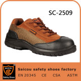 Saicou New Stylish Leather Men Low Cut Safety Work Shoes Sc-2509
