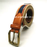 Genuine Leather and Fabric Combined Strap Belts