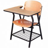 Convenient Design Fabric Writing Table School Student Chair with Writing Table
