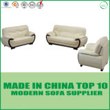 Classical Home Office Furniture Genuine White Leather Office Sofa