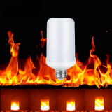 2017 New E27 E26 2835SMD LED Lamp Flame Effect Fire Light Bulbs 7W Flickering Emulation Flame Lights 1300K AC100-265V