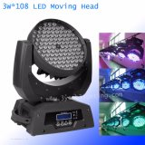 Factory 108X3w RGBW LED Moving Head Wash Light/ Stage LED Moving Head Wash DJ Lighting