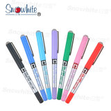 Snowhite Pvn-159 Free Liquid Ink Roller Pen with Needle Nib 7 Colors Quick-Drying Ink
