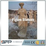 Natural Stone Carving Western Figure Statues for Decoration