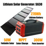 Portable Power Unit Solar Powered Generator Rechargeable lithium Polymer Battery