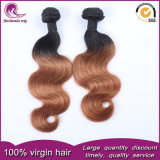 Indian Remy Hair Wefts 2t Color 1b# Brown Body Wave Hair