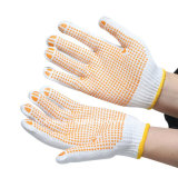 Wholesale Palm PVC Dotted Cotton Knitted Working Gloves