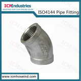 Stainless Steel 45 Degree Elbow Threaded Fittings/ISO 4144 Pipe Fitting