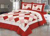 Cheap Microfiber 3 Piece Queen Comforter Quilt Bedspeads Sets