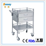 Dubai Standard Stainless Steel Hospital Trolley
