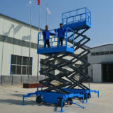 Aerial Working Trailer Mobile Scissor Lift Platform with Four Supporting Wheels