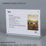 Clear Acrylic Price Sign Holder T Shape Magnetic Picture Display Stand