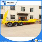 Cheap 3 Axles Low Bed Semi Trailer 60 Ton Low Bed Truck Trailer for India