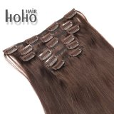 Hoho Hair Wholesale Brown 16 Inch Clip in Human Hair Extensions 300g