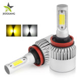 Yellow White Lighting LED H4 H11 Dual Color LED Headlight Bulb