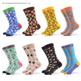 Wholesale OEM Custom Cotton Fashion Design Mens Colorful Funny Happy Dress Socks