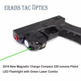 2019 New Magnetic Charge Subzero Tactical Compact Rechargeable 520nm Weapon Glock Pistol Gun Green Laser with 220 Lumens LED Flashlight